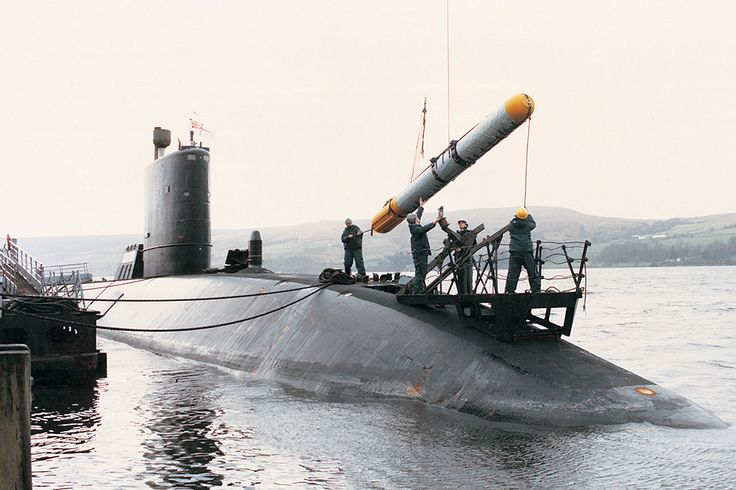 A Spearfish torpedo being loaded into a Royal Navy submarine [Picture: Copyright BAE Systems]