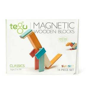 Tegu Magnetic Wooden Block Set in Sunset 14-Piece : Target