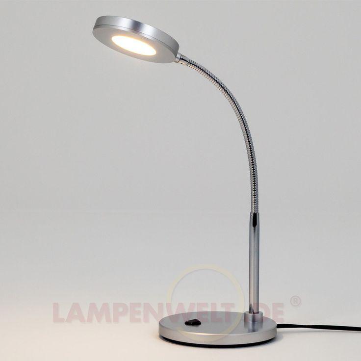 LED-Schreibtischleuchte Aurel in Silber 9643012