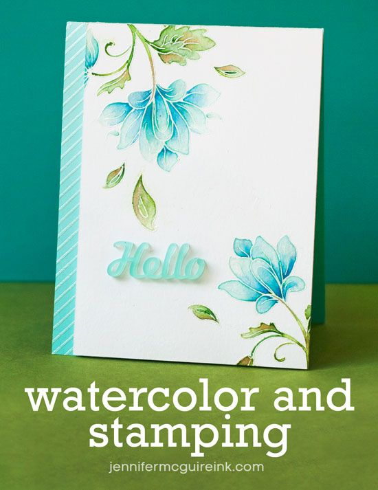 watercolor and stamping video