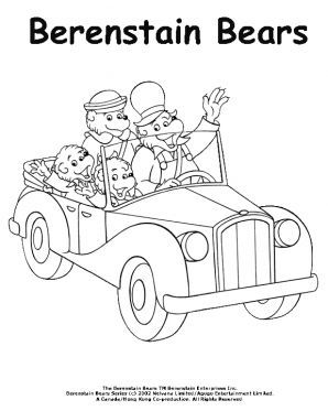 berenstain bears family car ride coloring page berenstain bears coloring pages for kids sprout - Berenstain Bears Coloring Book