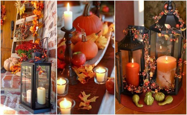 Świece i lampiony - idealne połączenie do wnętrz na jesień