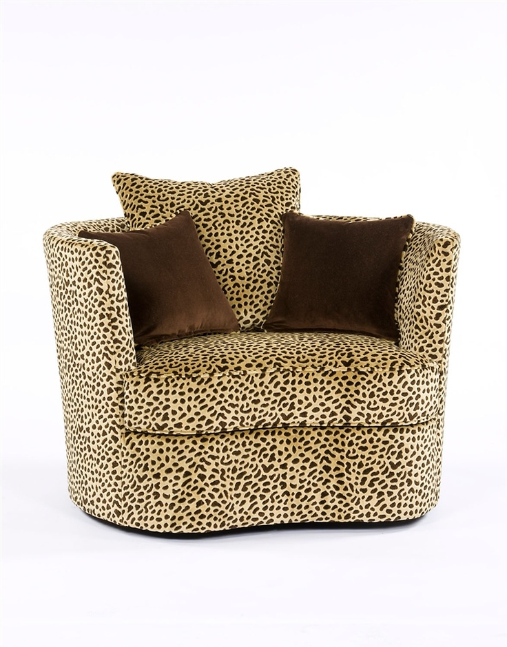 Animal Print Swivel Chair