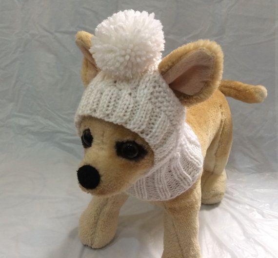 Este sombrero de perro es perfecto para tu Chihuahua, caniche, perro pequeño Yorkienor Exclusivo 100% tejidos a mano Diseño original Sombrero de tamaño XS no estirado -10 -11(around head)  Sólo lavado a mano