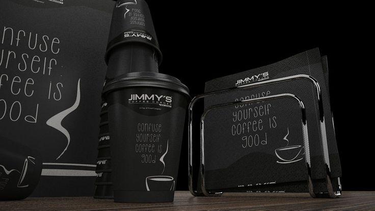 Cafe - Restaurant / Kafe - Restoran Logo and Identity Dessign / Logo ve Kurumsal Kimlik Tasarımı Product and Package Design / Ürün ve Ambalaj Tasarımı 3D Modeling and Visualisation / 3D Modelleme ve Görselleştirme Graphic Design / Grafik Tasarım Jimmy's Coffee Corner / New Jersey - İstanbul