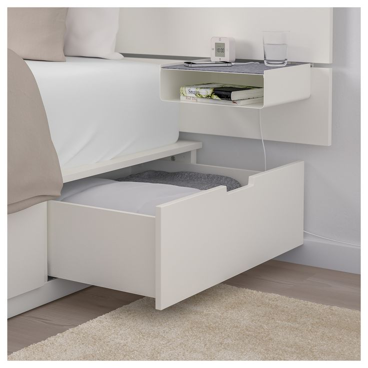 Nordli Bed With Headboard And Storage, Ikea Bed Frame With Storage Canada