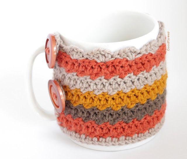 Cozy Mug housse Couvre tasse crochet par CocoFlower- www.cocoflower.net