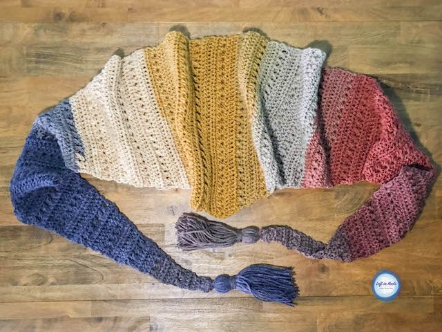 Crochet Crunching Leaves Mod Scarf Free One Skein Mandala Yarn