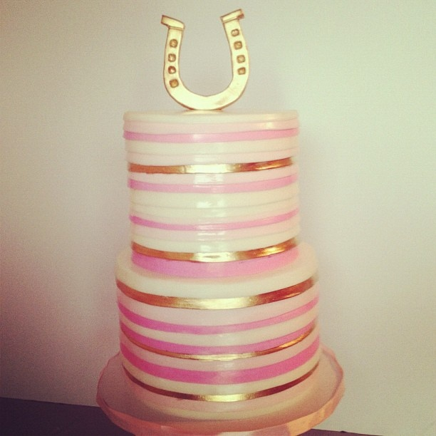love this cake from Sweet and Saucy Shop: Shops Sweet, Cakes Fondant, Cakes Ideas, Pink Cakes, Sauci Shops, Derby Cakes, Cakes Toppers, Wedding Cakes, Fondant Cakes