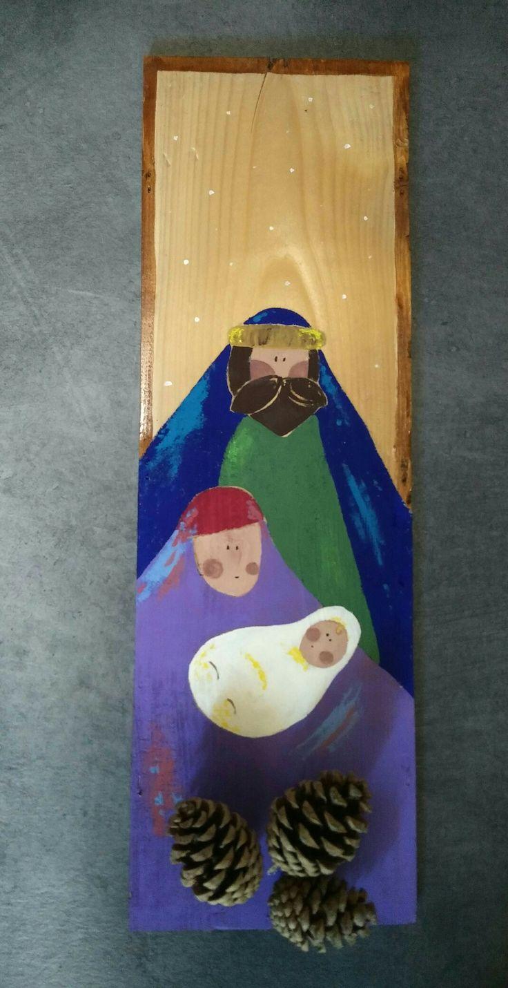 Christmas crib - Presepe dipinto su legno