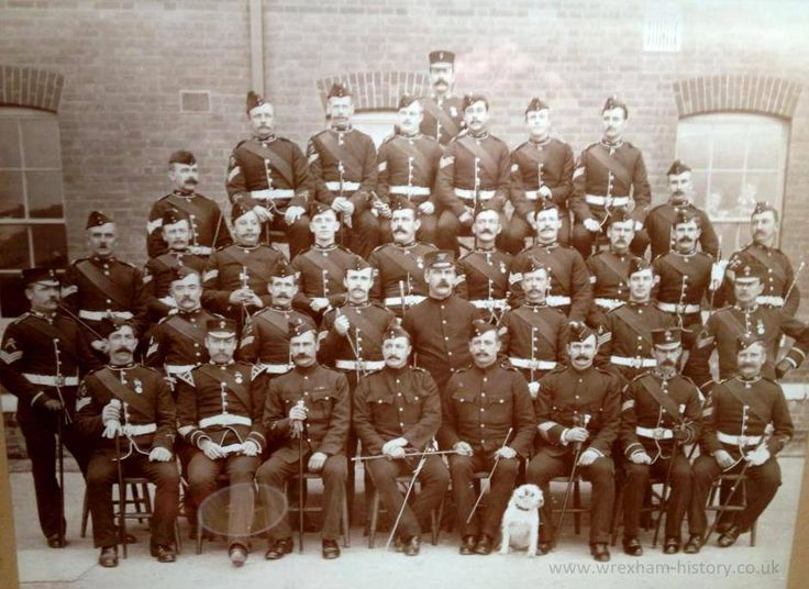 W.O. Staff-Sergts & Sergts. 3rd Battalion Royal Welsh Fusiliers. Crownhill Barracks. nr Plymouth October 1900.