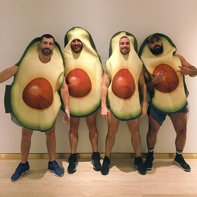 Avocadaddies! 😜 Happy Halloween! #avocados #halloween #costume #beards #instabeard #scruff #beardedmen #nyc #ny #a #newyork #usa