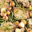 One Pan Parmesan Pork Chops and Veggies Recipe