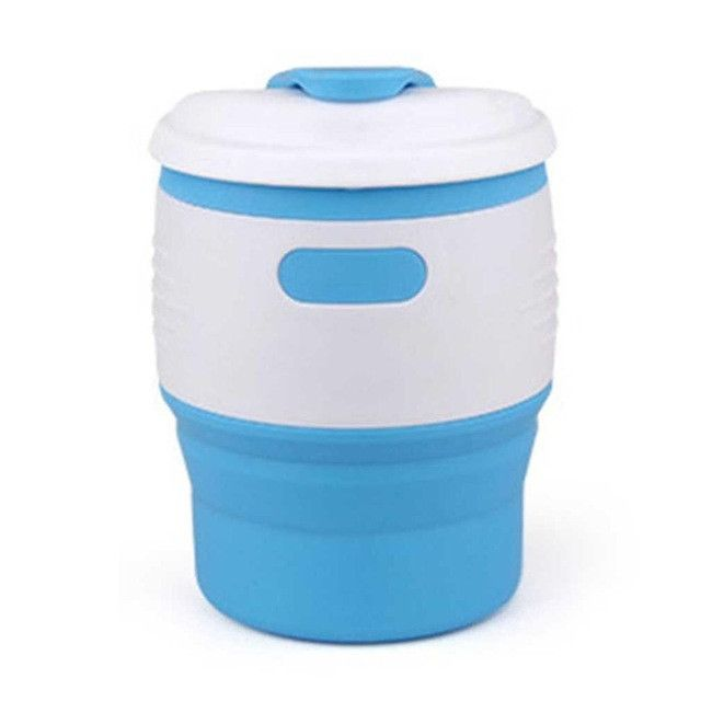 Foldable Silicone Coffee Cup with Lid