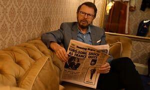 Ulvaeus in the exhibition's replica of the Brighton hotel suite where Abba celebrated their 1974 Eurovision win.