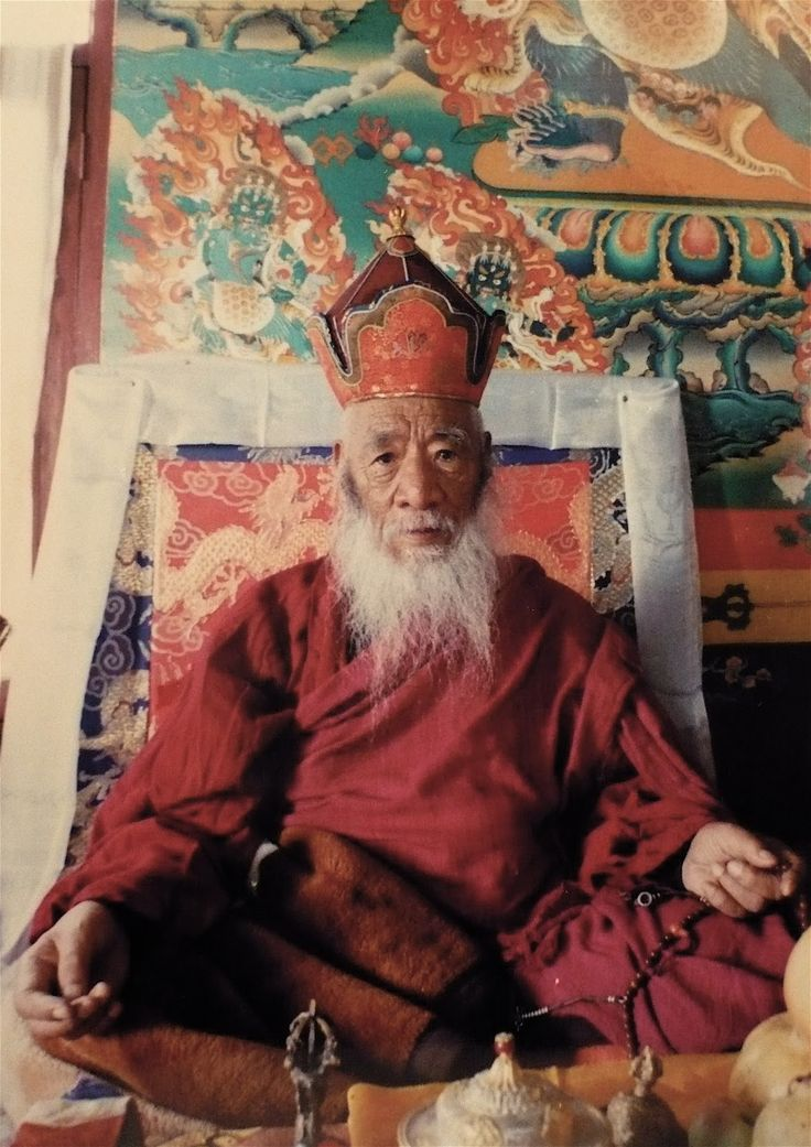 Chatral Rinpoche (b. 1913) A Dzogchen master saint who spent decades wandering in isolated valleys and mountain retreats, practicing in places associated with past realizers. Thomas Merton met Chatral in 1968 and said if he were ever to return to Asia, Chatral would be his lama. This heart student of Dudjom Rinpoche is a vegetarian. KPSR received transmission for the entire cycle of terma of the great tertön Lhatsun Namkha Jigme as well as part of the Longchen Nying-thig, from Chatral…
