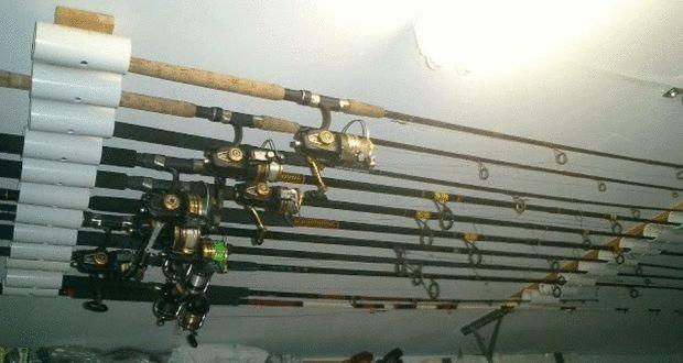 Diy fishing rod holder instructions fish and fishing rod for Fishing rod hangers