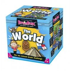 BrainBox World contains 71 beautifully-illustrated cards showing the very best this world has to offer, and then some! The object of the game is to study a card for 10 seconds and then answer a question based on the roll of a die. If the question is answered correctly, the card is kept and the person with the most number of cards after 5 or 10 minutes is the winner. #theworld #brainbox #learning #game #camelotkids