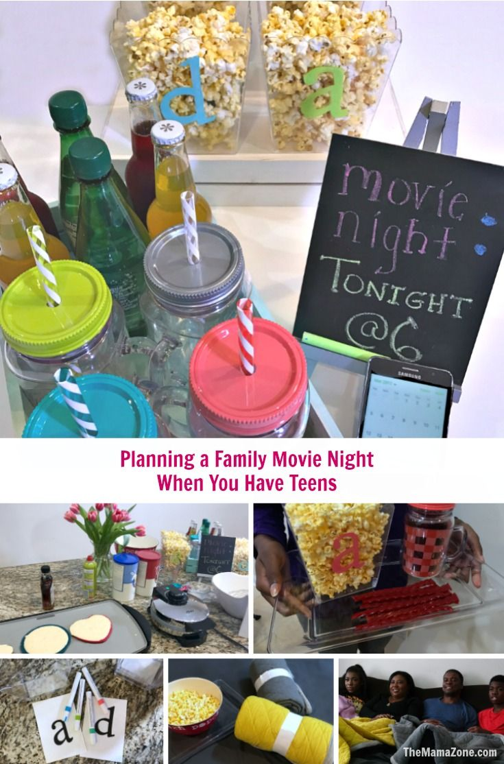 Pin it-Planning a Family Movie Night with Teens