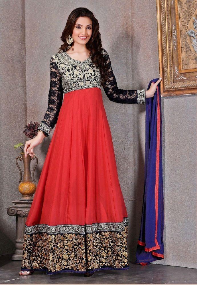 UK Anarkali Salwar Kameez Designer Women Ethnic Dress