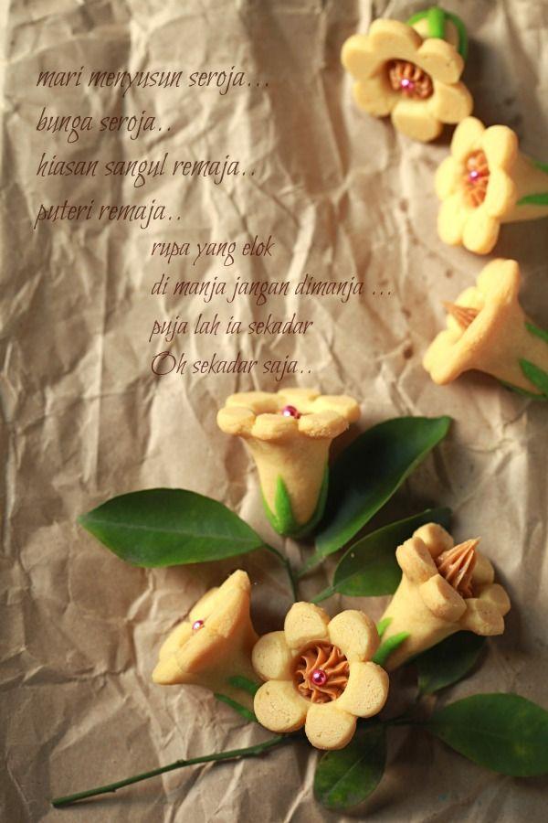 Biskut Bunga Seroja Masam Manis Resep Makanan Penutup Resep Kue Kering