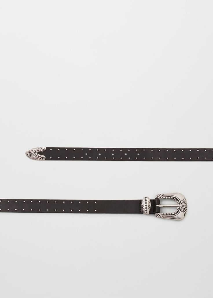 Studded belt - Belts for Woman | MANGO Lithuania