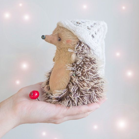 Hedgehog Anders  15cm by KittyAprilHandmade on Etsy