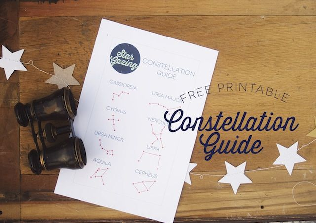 Lulu the Baker | Free printable constellation guide for a summer star gazing party (the whole series of DIY crafts for this party is cute!)