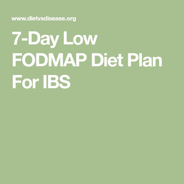 7-Day Low FODMAP Diet Plan For IBS