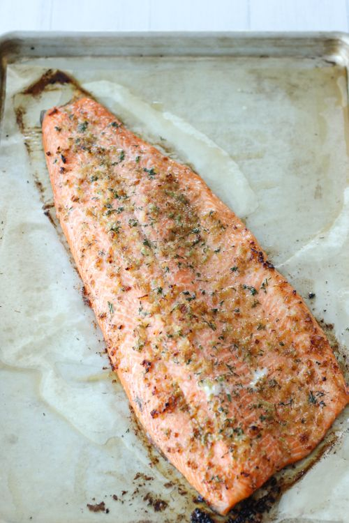 Baked Steelhead Trout Fillet Awesome SIMPLE recipe! Definitely recommend :) Jen
