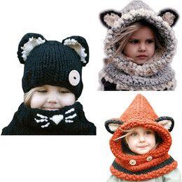 Toddler Baby Girls Boys Winter Warm Knitted Crochet Beanie Hat Cap Scarf Set UK