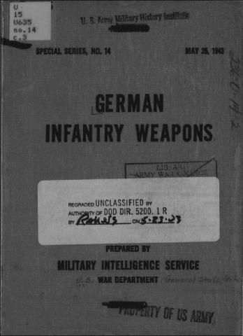 German Infantry Weapons (Military Intelligence Service) - World War II Social Place
