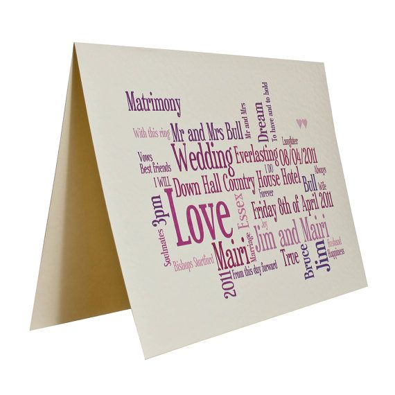 Personalised Custom Wedding  or Anniversary by weheartcards
