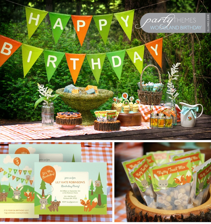 Woodland themed party!: Woodland Animal, Party'S, Birthday Parties, Woodland Party, Party Printables, 1St Birthday, Party Ideas, Birthday Party, Birthday Ideas