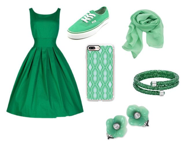 """""""green holiday"""" by kawaii-dragon on Polyvore featuring Vans, Casetify and Kenneth Jay Lane"""