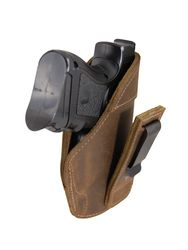 New Brown Leather Tuckable IWB Holster for Compact Sub-Compact 9mm .40 .45 Pistols (TU68-22BR)