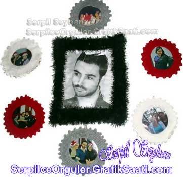 Ev dekorasyonu: örgü fotoğraf çerçevesi Home decoration: knitting photo frame