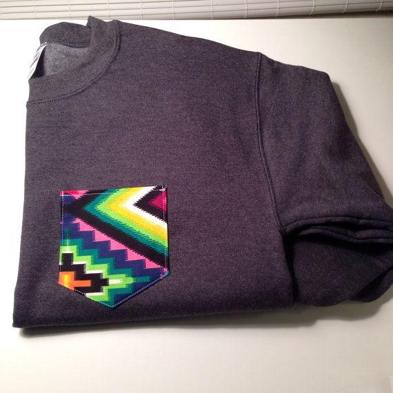 Custom crew cut sweatshirt with bright tribal by tailoredhope