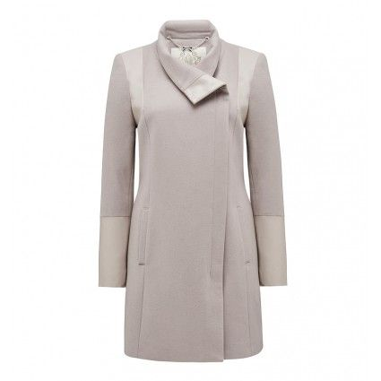 Adrissa contrast wrap coat