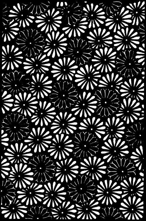 kokorotextiles: Vintage scan of a katagami kiku (chrysanthemum)... - Patternatic