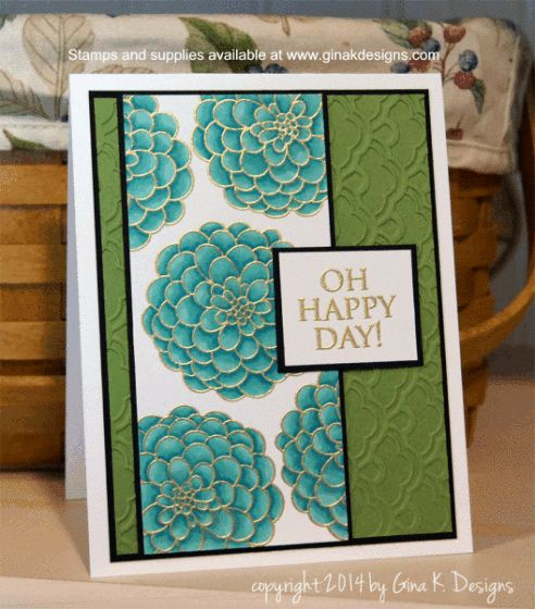 Mixing Embossing With Alcohol Markers - video tutorial - bjl