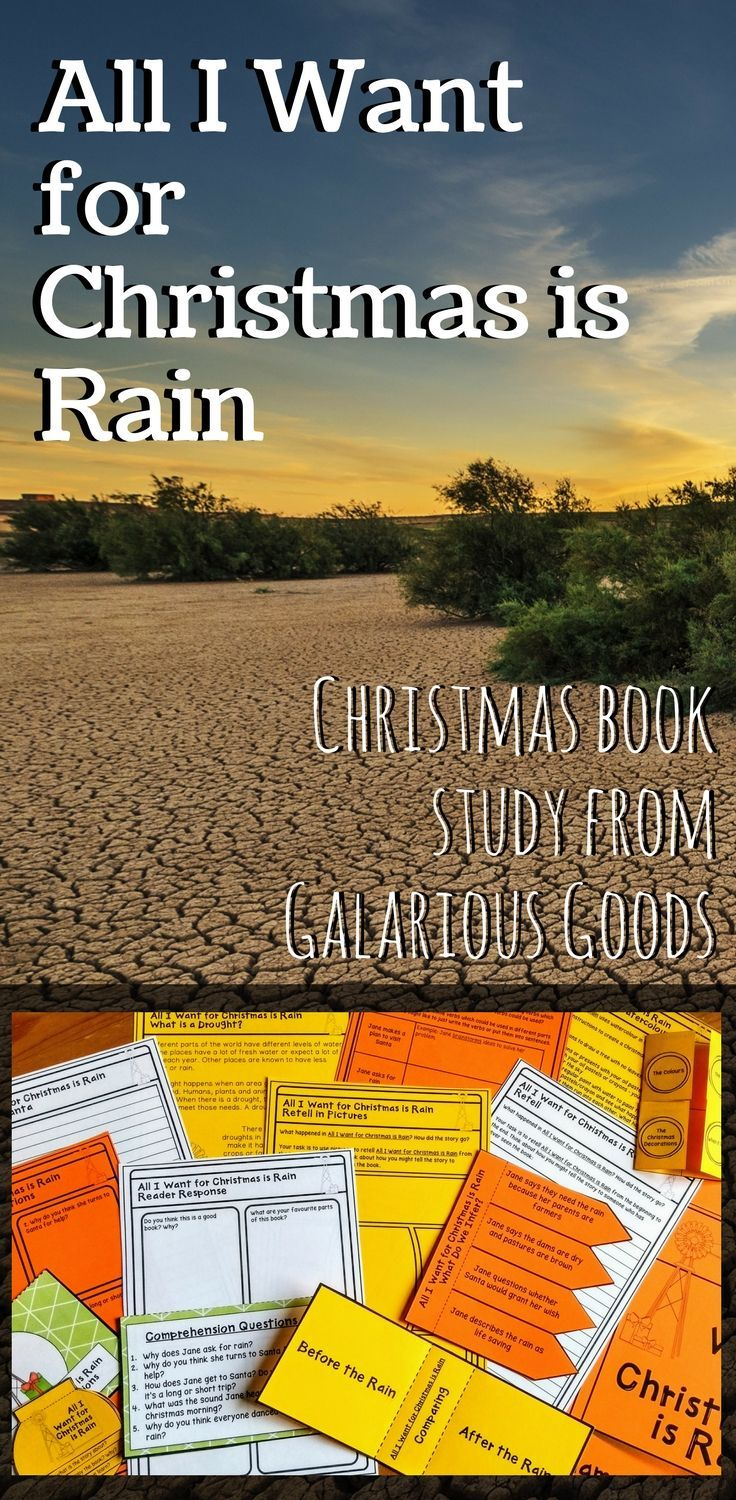 Get into Christmas in the classroom with this Christmas book study. Explore All I Want for Christmas is Rain by Cori Brooke, looking at comprehension, reader response, text features, research and creative activities. #christmasbooks #bookstudy #picturebook #christmasintheclassroom #teachingchristmas