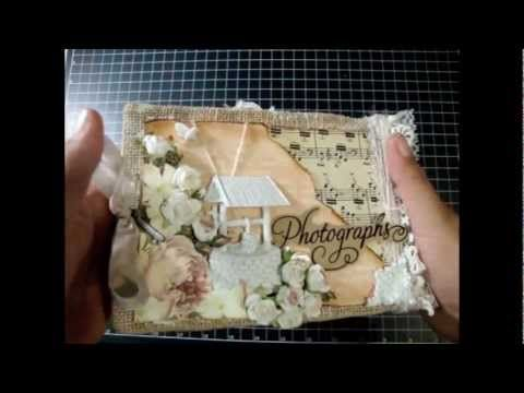 Shabby Chic Burlap Mini Album