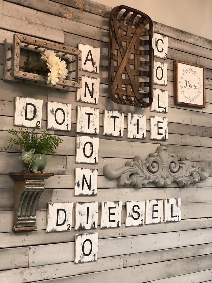 Scrabble Tiles | Farmhouse wall decor, Scrabble wall ...
