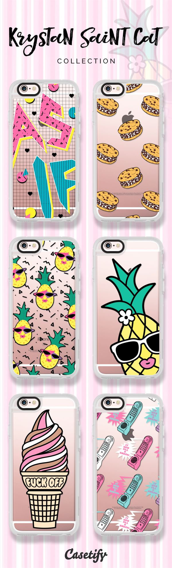 6 must have iPhone 6 protective phone case designs by Krystan Saint Cat | Click through to see more cute food iphone case ideas >>> https://www.casetify.com/krystansaintcat/collection #phonecase | @casetify