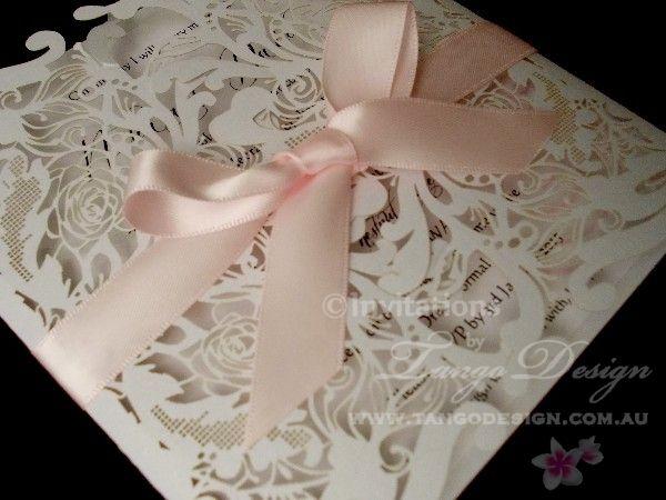 laser-cut-invitation design for elegant weddings by www.tangodesign.com.au #lasercutinvitatyions #laceinvitations