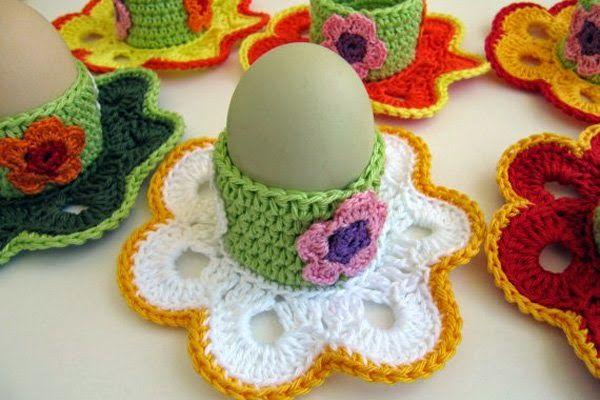 Horgolás minden mennyiségben!!!: Horgolt húsvéti tojástartó leírása
