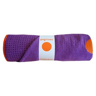 Need this yogitoes towel. A must for any bikram or power flow class! It absorbs my sweat and keeps me from slipping! It goes on top of your mat.