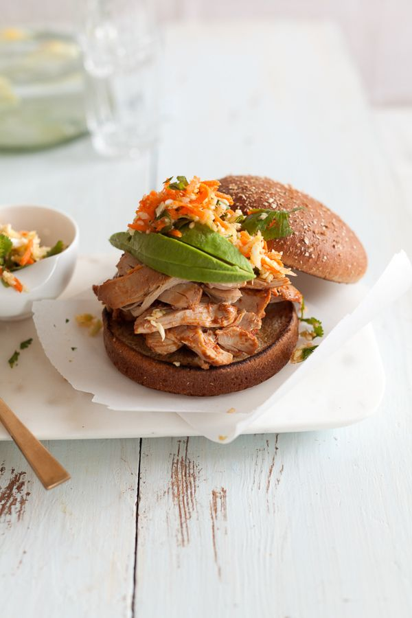 Southwestern Slow Cooker Pulled Chicken Recipe! This easy, unbelievably tender chicken is sweet, smoky, and just a little spicy -- flavored with cumin, chili powder, and coriander!