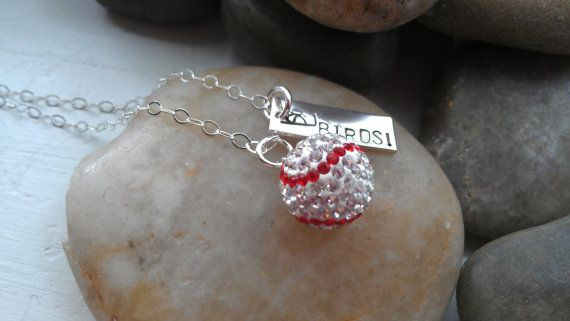 saint louis cardinals birds swarovski baseball by thecharmedwife, $44.00